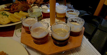 Beer tasting is Prague, Czech Republic. Photo via Flickr:Ralf Smallkaa