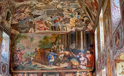 Frescos inside the Baroque Palace of Troja, Czech Republic. Flickr:Adriana Alonso