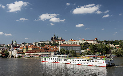 MS Florentina on the Vltava River in Prague, Czech Republic. Photo via TO