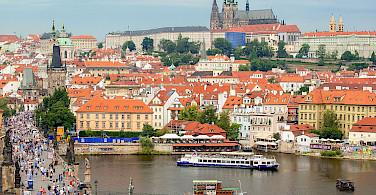 Charles Bridge and Castle, Prague, Czech Republic. Photo via Wikimedia Commons:Peter K Burian