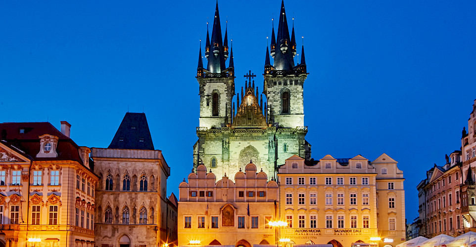 Golden City of Prague (Old Town is a UNESCO site) in Czech Republic. Flickr:Pedro Szekely