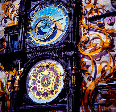 Astronomical Clock in Old Town, Czech Republic. Photo via Flickr:Moyan Brenn