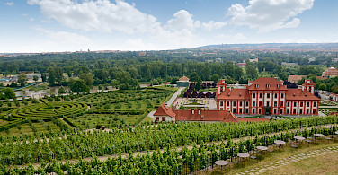 Baroque Castle in Troja, Czech Republic. Photo via Flickr:Breta Valek