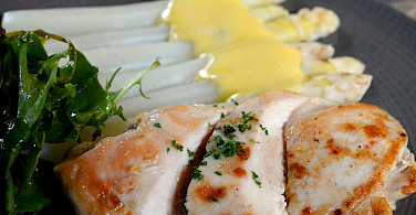 Spargel (white asparagus) is a local favorite in Alsace. Photo via Flickr:Pug Girl