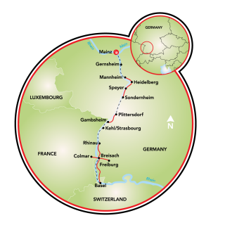 Mainz to Basel Map
