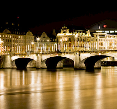 Mittlere Brücke in Basel, Switzerland. Photo via Flickr:son_gismo