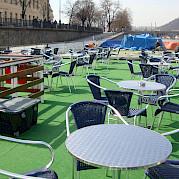 sun deck - MS Florentina | Bike & Boat Tours