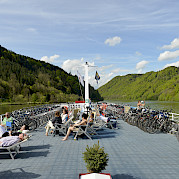 Sun deck - MS Normandie | Bike & Boat Tours