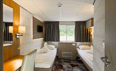 Twin Cabin | MS Normandie | Bike & Boat Tours