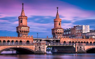 Oberbaumbrücke over Spree River in Berlin, Germany. Photo via Flickr:Thomas