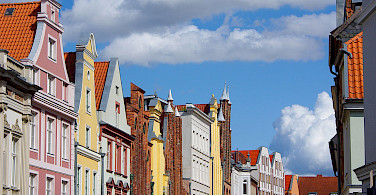 Gorgeous gables in Altstadt Stralsund, Germany. Photo via Wikimedia Commons:Kathleen Palnau