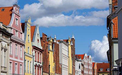 Gorgeous gables in Altstadt Stralsund, Germany. Photo via Wikimedia Commons:Kathleen Palnau