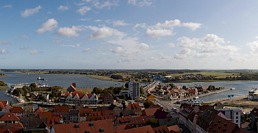 Overlooking Wolgast, Germany. Photo via Flickr:Dirk Vorderstraße