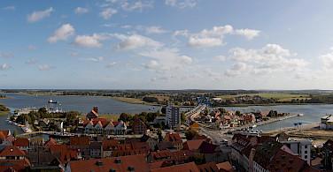 Overlooking Wolgast, Germany. Photo via Flickr:Dirk Vorderstraße