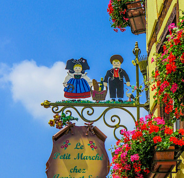 Lovely architecture in Eguisheim, Alsace, France. Photo via Flickr:Kiefer