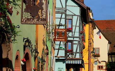 Bike rest in Riquewihr, Alsace Wine Route Tour, France. Flickr:Pug Girl
