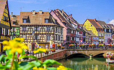 Along the Lauch River, Colmar is part of the <i>Alsatian Wine Route</i> in France. Flickr:Kiefer