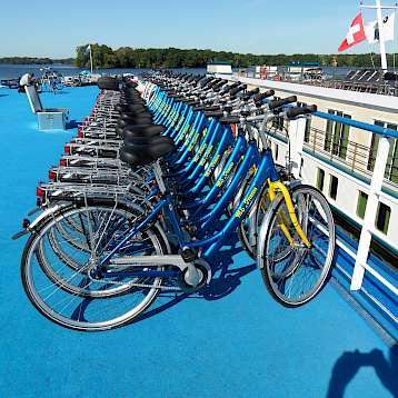 Princess - Bicycles on board MS Princess - Bike & Boat Tours