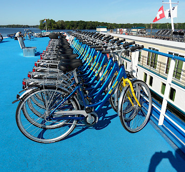 Bicycles on board MS Princess