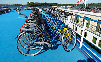 Bicycles on board MS Princess - Bike & Boat Tours
