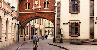 Biking in Krakow, Poland. Photo via Flickr:Javi Sanchez de la vina