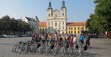 Group photo on the Moravia Bike Tour