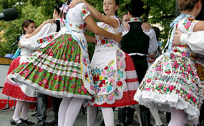 Boys and girls dancing in Uherske Hradiste, Czech Republic. Photo via Flickr:Donald Judge