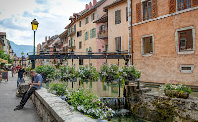 Bike rest in Annecy, France. Flickr:Jean Balczesak
