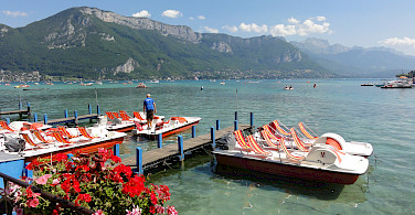 Swimming maybe in Lake Annecy, France. Photo via Flickr:jean-louis Zimmermann
