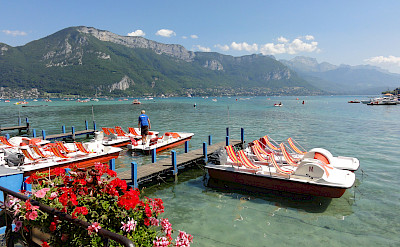 Swimming maybe in Lake Annecy, France. Flickr:jean-louis Zimmermann