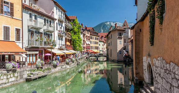 Annecy, <i>The Pearl of the French Alps</i> on the Thiou River in France. CC:Markus Trienke