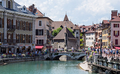 Annecy, <i>The Venice of the Alps</i> on the Thiou River in France. CC:Dmitry A. Mottl