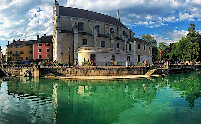 Along the Thiou River in Annecy, France. CC:Chrisgg382000