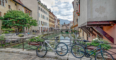 Literal bike rest in Annecy in Haute Savoie, France. Flickr:Jean Balczesak