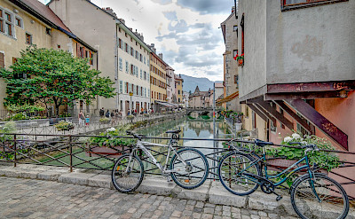 Literal bike rest in Annecy in Haute Savoie, France. Flickr:Jean Balczesak