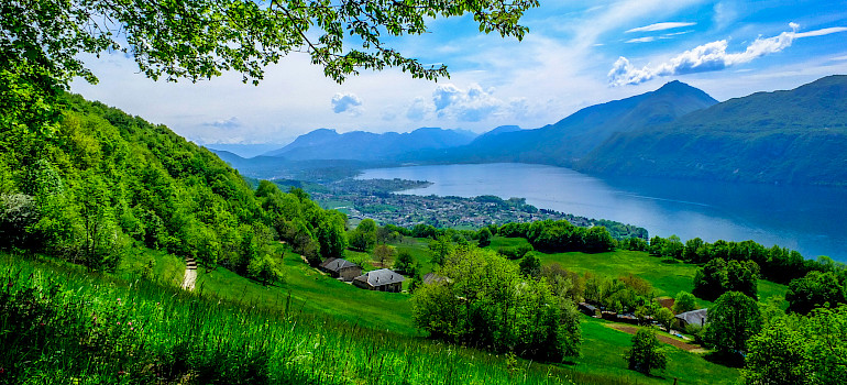 Lake Bourget in department of Savoie, France. Photo via Flickr:Michael Bourgeois