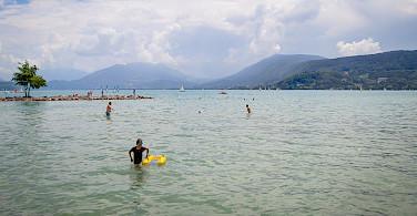 Lake Annecy in Haute Savoie, France. Flickr:Jean Balczesak