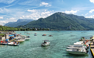 Lake d'Annecy in France. CC:Alex Brown