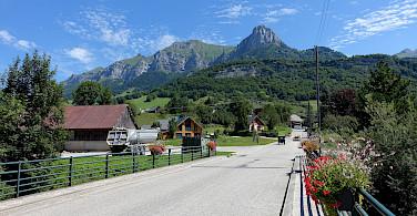 Saint-Pierre-d'Albigny in Savoie department in Auvergne-Rhone-Alpes region of France. Photo via Flickr:Guilhem Vellut