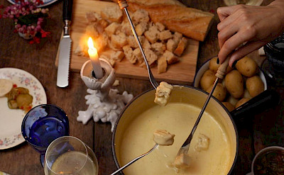Cheese fondue is the favorite delicacy in Switzerland! Flickr:Juliano Mendes
