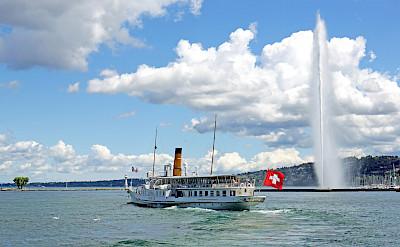 Boating on Lake Geneva in Switzerland. Flickr:Dennis Jarvis