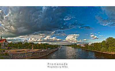 Along the Elbe River in Magdeburg, Germany. Flickr:Patrick Seifert Fotografie
