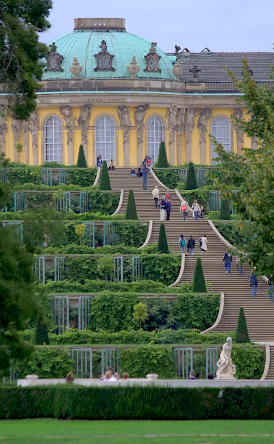 Sanssouci Palace in Potsdam, Germany. Flickr:extranoise