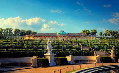 Schloss Sanssouci, the summer Palace of the King of Prussia, in Potsdam, Germany. Flickr:Wolfgang Staudt