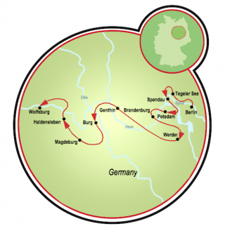 Berlin to Wolfsburg Map