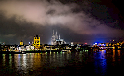 Rhine River in Cologne, Germany. Flickr:Janniknitz