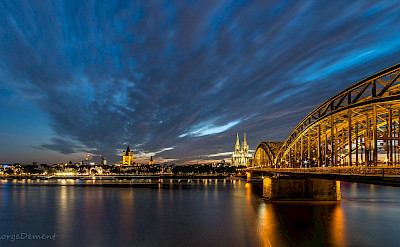 The famous Hohenzollern Bridge in Cologne, Germany. Flickr:GeorgeDement