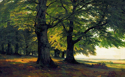 Painting of Teutoburg Forest in Germany. Flickr:Art Gallery ErgsArt