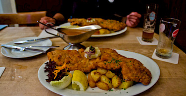 Veal schnitzel is the best in Germany! Photo via Flickr:Flowizm