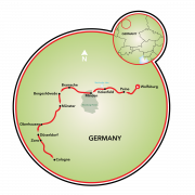Wolfsburg to Cologne Map